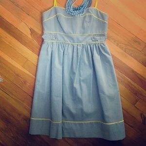 Gray and Yellow Sundress